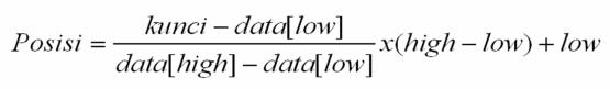 Rumus Interpolation Search