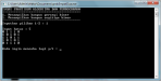 Program persegi biner dengan tanda silang yang ada di tengahnya