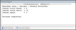 Program Java Hitung Huruf Besar, Kecil dan Spasi