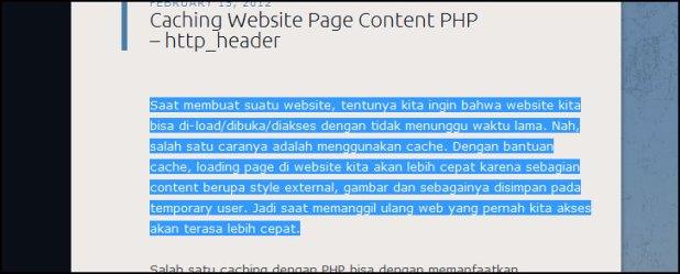 Select & Block Text Website
