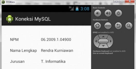 Contoh Program Android Koneksi MySQL